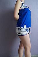 Пижама женская летняя в полоску с якорями