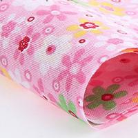 Ткань Разноцветные цветы на розовом фоне 50х50 см