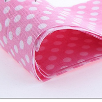 Ткань Розовая горох крупный белый 50х50 см