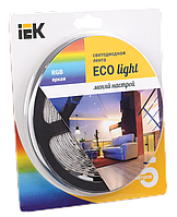 Лента светодиодная LED 5м блистер LSR-3528RGB54-4.8-IP65-12V IEK-eco