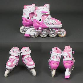 Ролики Sprinter Для девочек размер регулируется 38-40,колёса полиуритан, Сумка в подарок !!!
