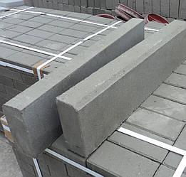 Бордюр тротуарный серый 50см*20см*6см