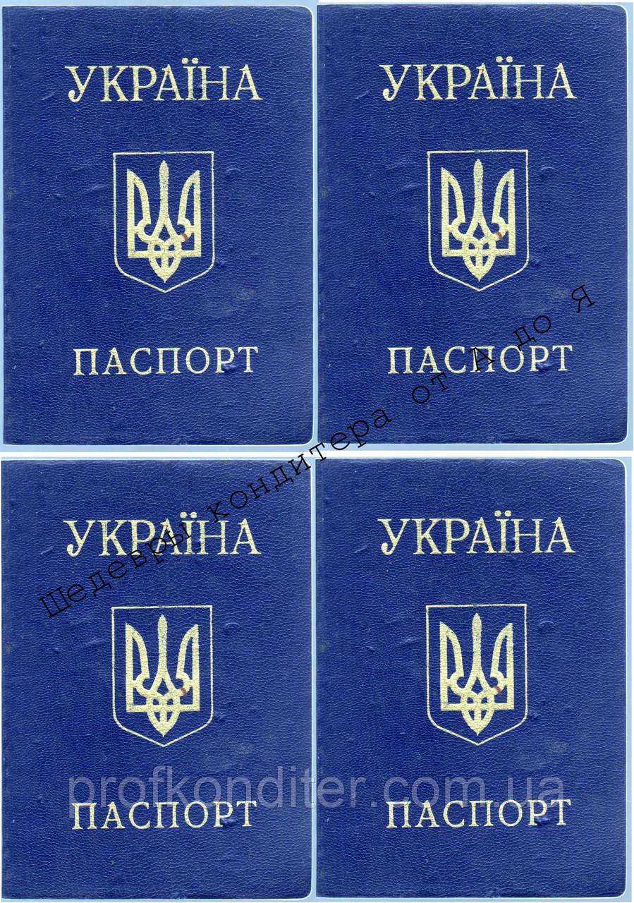 Вафельная картинка Паспорт украины