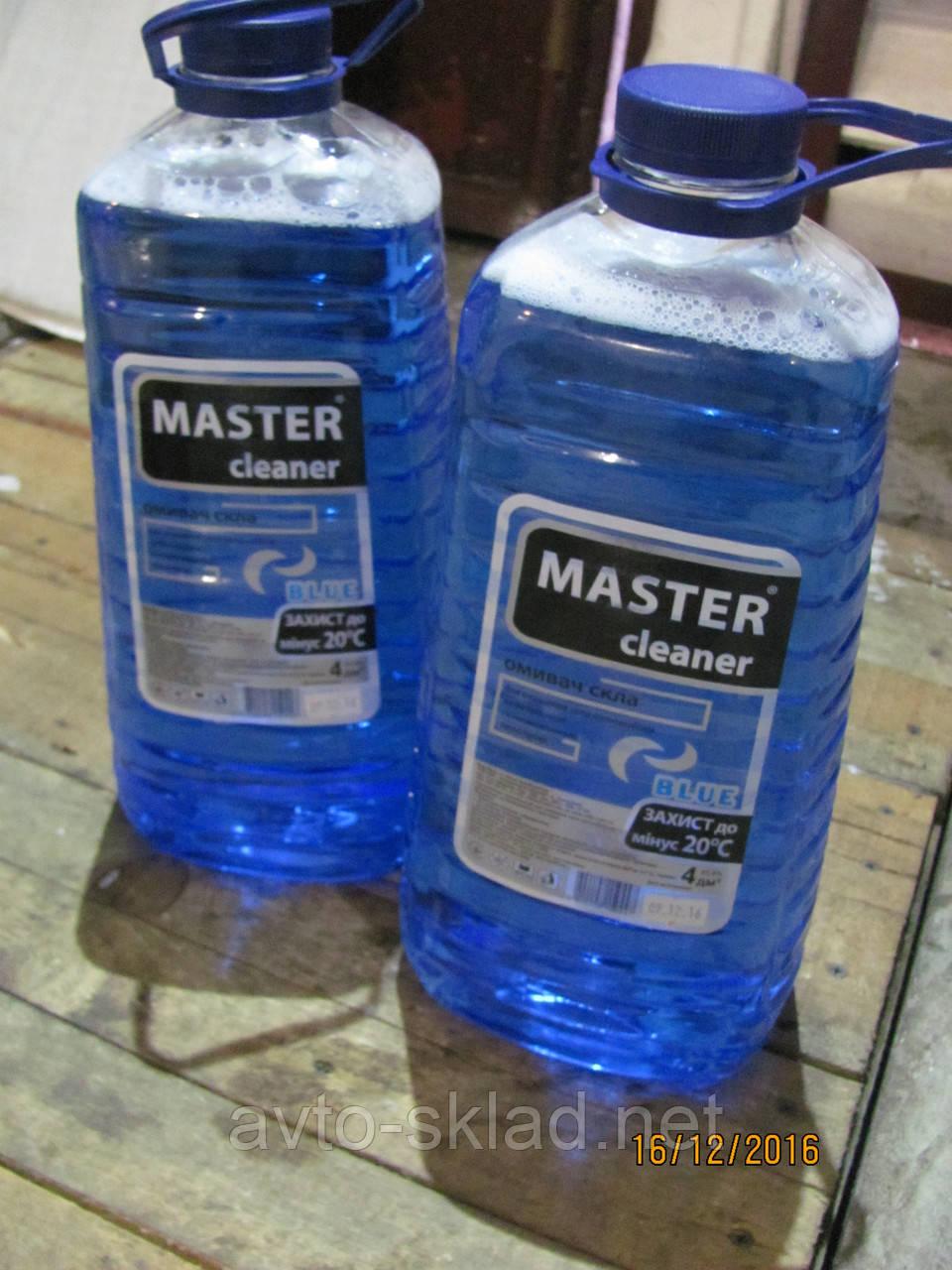 Жидкость бачка омывателя зима Мaster cleaner Морская свежесть 4л -20C