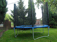 Батут спортивный для детей Funfit диаметром 252см (8ft) с лестницей и внешней сеткой