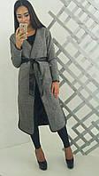 Стильное твидовое пальто на подкладке