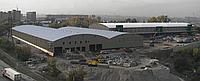 Большепролетные (с шириной пролета до 90 метров, высотой до 20 метров) здания, склады, ангары