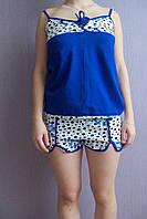 Пижама женская летняя камушки с якорями