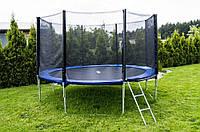 Батут спортивный для детей Funfit диаметром 374см (12ft) с лестницей и внешней сеткой