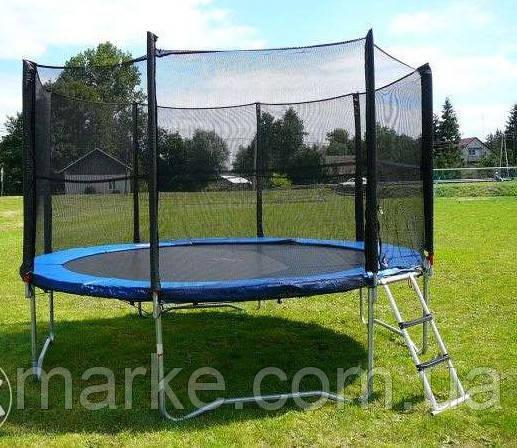 Батут Funfit 404см (13ft) диаметр с внешней сеткой спортивный для детей и взрослых
