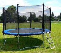 Батут спортивный для детей Funfit диаметром 404см (13ft) с лестницей и внешней сеткой