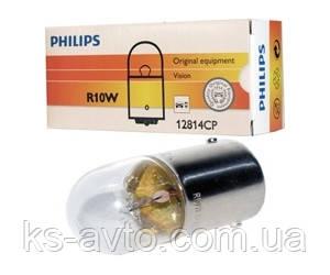Лампа накаливания 12814CP R10W12V 5W BA15s (пр-во Philips),12814CP
