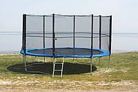 Батут спортивный для детей Funfit диаметром 465см (15ft) с лестницей и внешней сеткой