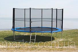 Батут Funfit ORIGINAL 465см (15ft) диаметр с внешней сеткой спортивный для детей и взрослых
