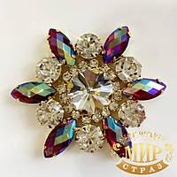 Хрустальный элемент, цвет Siam AB, размер 50мм*1шт