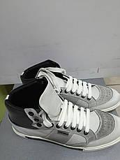 Кроссовки  мужские кожаные высокие светло-серые Antony Morato, фото 2