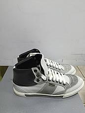 Кроссовки  мужские кожаные высокие светло-серые Antony Morato, фото 3