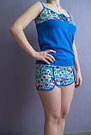 Пижама женская летняя в цветочек
