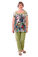 Блуза туника хлопковая для полных и беременных , Бл 018-1.