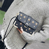 Стильная каркасная сумочка в звездах