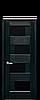Дверь межкомнатная СИЕНА С ЧЕРНЫМ СТЕКЛОМ, фото 3