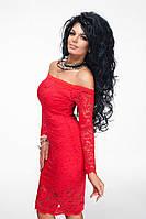 Платье гипюровое, черное и красное