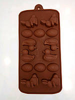 Форма силиконовая для конфет, шоколада, льда Пасхальная