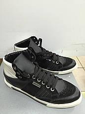 Кросівки чоловічі демісезонні шкіряні високі чорні Antony Morato, фото 3