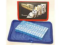 Домино в чехле i5-46 (тяжелые кости), настольная игра домино