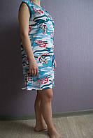 Блуза/туника хлопковая с морским рисунком