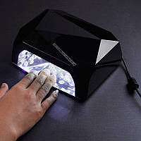 Гибридная LED UF сенсорная лампа 36Вт. Лампа для сушки геля и лака