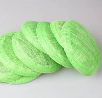 Основа Синамей для шляпки, вуалетки круглая Салатовая 15 см