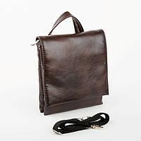 Мужская сумка Bred с клапаном коричневая, фото 1