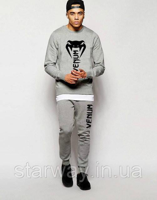 Мужской серый спортивный костюм Venum | трикотаж