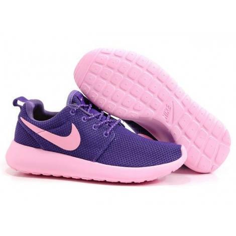 Женские кроссовки Nike Roshe Run Purple Pink Mesh