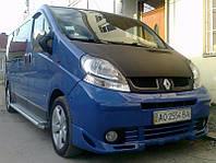 Накладка на передний бампер Opel Vivaro (2001-2006), Губа Опель Виваро