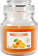 Ароматическая свеча BISPOL в стеклянном стакане с крышкой №SND71-63 - Апельсин