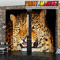 Фотошторы 3д леопард
