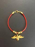Браслет красная нить оберег от сглаза  Сердце с крыльями ангела