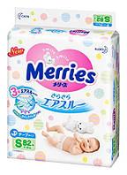 Подгузники Merries S (4-8кг) 82шт