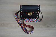 Черная кожаная сумка VirginiaConti