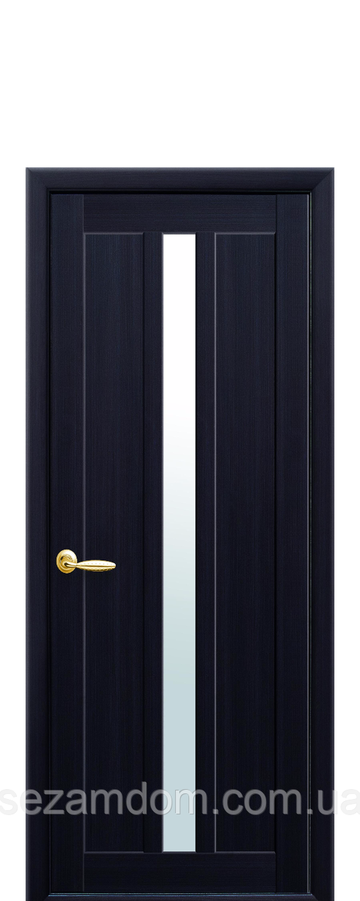 Дверь межкомнатная МАРТИ СО СТЕКЛОМ ЧЕРНЫМ