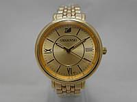 Стильные женские часы Swarovski - цвет золотистый