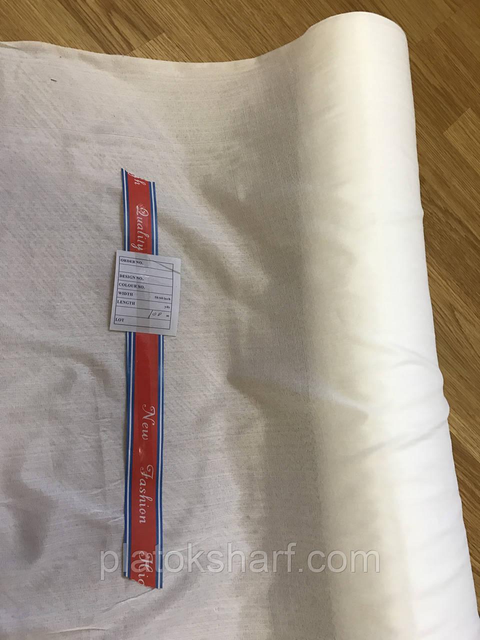 Платочная ткань. Для белого платка ширина 75 см, в рулоне 100 метров