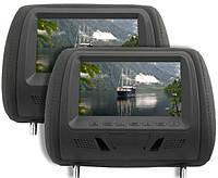 Комплект подголовников с монитором KLYDE Ultra 7725HD black (черный)