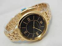 Стильные женские часы Swarovski - цвет золотой с черным