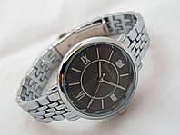 Стильные женские часы Swarovski - цвет серебро с черным