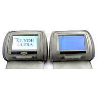 Комплект подголовников с монитором и DVD-проигрывателем KLYDE Ultra 7745HD Gray (серый)