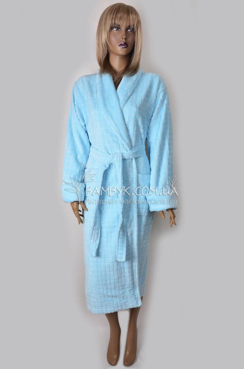 Халат женский бамбуковый Nusa (голубой) №3925