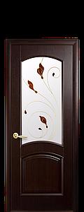 Дверь межкомнатная АНТРЕ СО СТЕКЛОМ САТИН И РИСУНКОМ №4